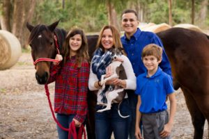 Family Picture with Dog and Horse